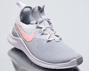 Nike Damen Gratis Trainer 8 Damen Neu Pure Platinum Pink Turnschuhe 942888-006 Sneaker