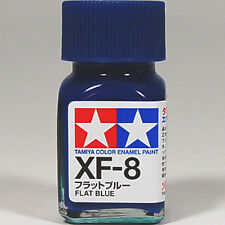 TAMIYA COLOR ENAMEL XF-08 XF-8 Flat Blue MODEL KIT PAINT 10ml NEW