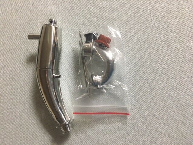 RDLogics 1Pc Curved Tuned Pipe for Traxxas T-Maxx TMaxx 2.5, free shipping US