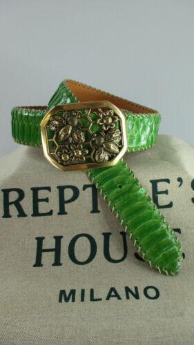 della nuova rettile originale del casa con in pitone Cintura fibbia 8POk0wnX