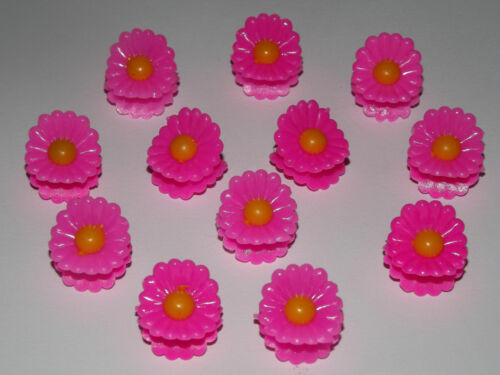 X12 assortiment mini daisy petit plastique cheveux pinces pinces pinces cheveux accessoires