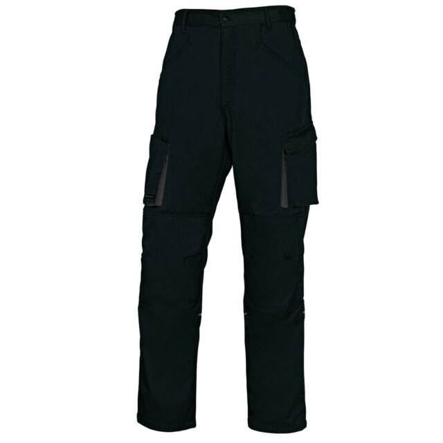 "Delta Plus Panoply M2PAN Black 31-33/"" Mach2 Mens Cargo Kneepad Trousers Pants"