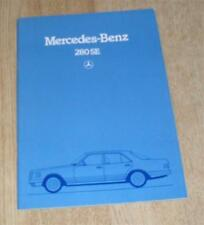 Mercedes S Class 280 SE Saloon Brochure 1981 - W126