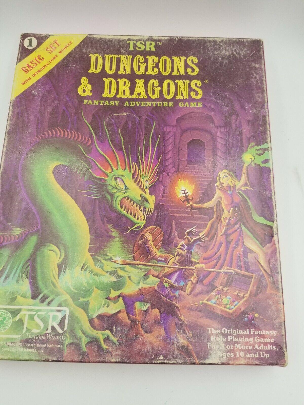 Dungeons & Dragons Fantasía Juego de Aventuras reglas básicas Box Set  1011 TSR 1980