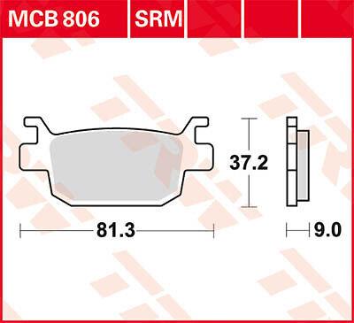 Plaquettes de frein Arrière TRW Lucas MCB 806 SRM Honda FES 125 S-Wing JF12 07