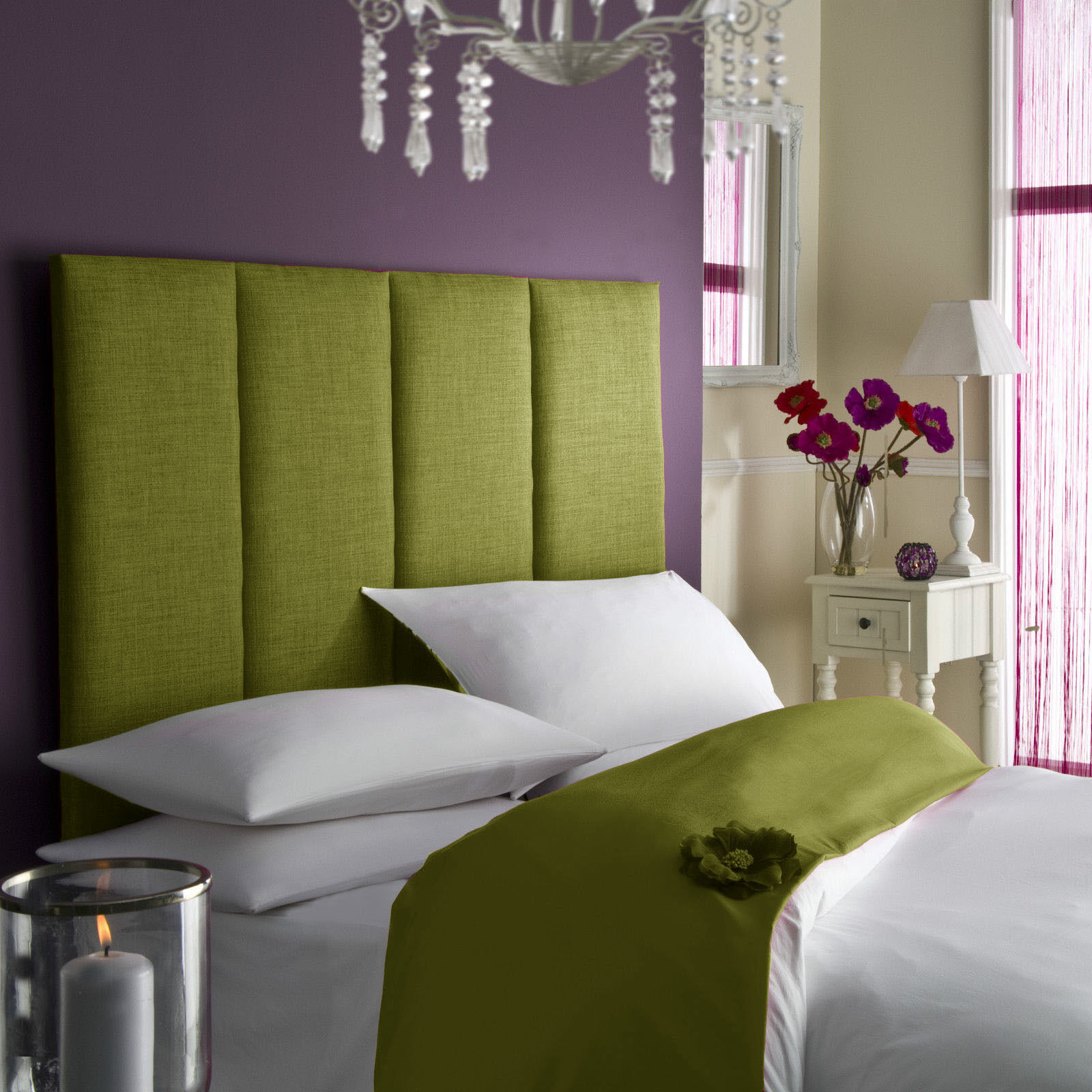 Tass High Headboard All Colours Bed All Sizes Linen Single