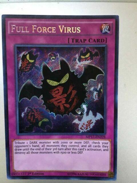 Full Force Virus MP17-EN228 1st edition Secret Rare Near Mint