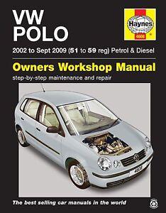 haynes manual 4608 volkswagen vw polo 1 2 e 1 4 e se twist 2002 2009 rh ebay co uk Volkswagen Polo 1.4 Polo 1 2 Trendline