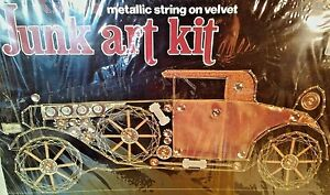 1930-Bentley-Metallic-String-on-Velvet-Junk-Art-Kit-Kelly-039-s-1977-New-Open-Box