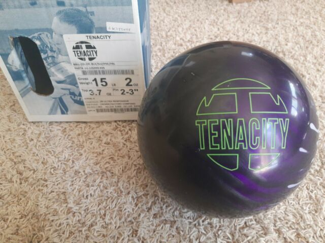 "Brunswick Tenacity 15 Pounds 1st Quality Bowling Ball 2 - 3"" Pin 