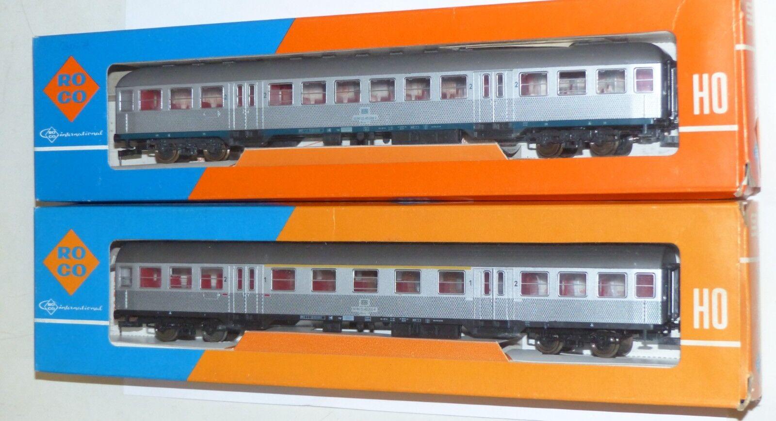2 Roco Personenwagen silverling  4265 und 4266 OVP H0 1 87 guter Zustand