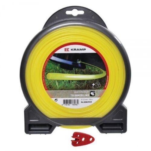 Kramp Mähfaden rund für Motorsense Nylon gelb 2,65 mm x 72 m Mähschnur NL2772RKR