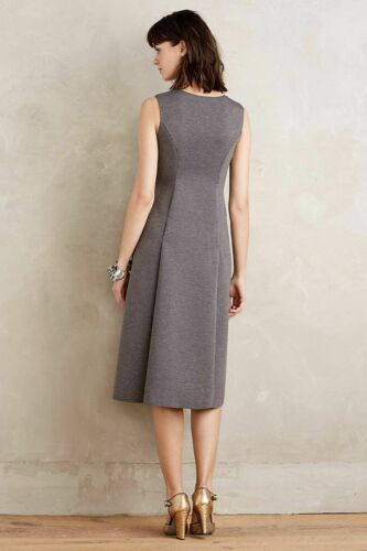 Details about  /Anthropologie Silver Fern Cutout Fall//Winter Dress by Pallavi Mohan