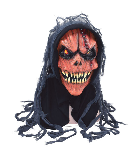 EVIL PUMPKIN SKULL #MASK ADULT SIZE HORROR HALLOWEEN PARTY FANCY DRESS ACCESSORY