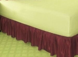 NEW-14-034-DROP-SOLID-EASY-FIT-SET-UP-AROUND-ALL-CORNERS-1-PC-BED-SKIRT-IN-FULL