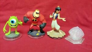 4-DISNEY-INFINITY-Aladdin-Monsters-Incredibles-1-0-2-0-3-0-Figure-Lot-Wii-PS3