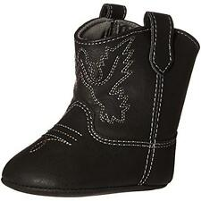 Baby Deer 5181 Black Infant Embroidered Western Booties Shoes 3 6-9 MO BHFO