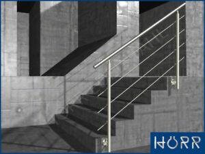 edelstahl gel nder treppe balkongel nder 1 25 m 125 cm handlauf gel nder bausatz ebay. Black Bedroom Furniture Sets. Home Design Ideas