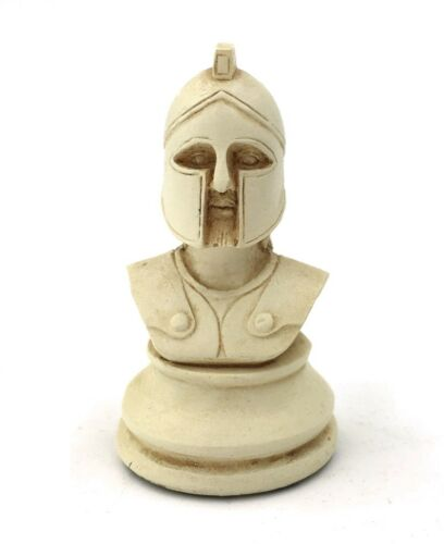 Greek Hoplite Military Playing Piece Miniature Bust Figurine 2H Set of 3