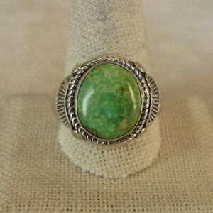 Green Turquoise  Ring Size 7 12