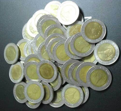 "THAILAND 10 BAHT LOT 50 COINS USED CIRCULATED /"" WHOLESALE /"""
