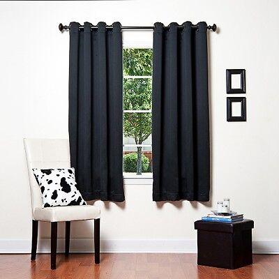 TOM 1 SET BLACK LINER ULTIMATE BLACKOUT WINDOW CURTAIN TREATMENT THERMAL panels