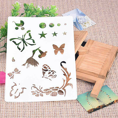 Soft Plastic ReusableTemplate Stencil Spray Painting art Cloth Wall Furniture