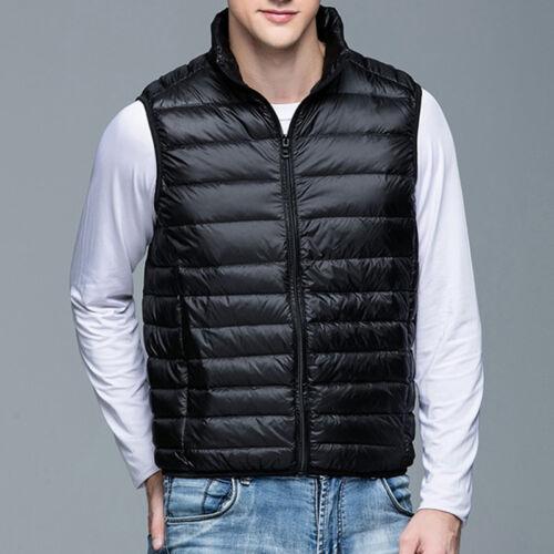 Mens M~3XL Warm Down sleeveless Waistcoat winter jacket outwear Puffer Vest coat