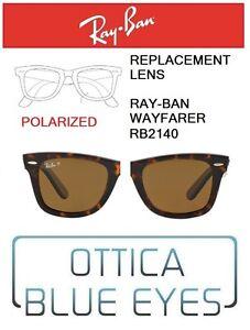 Lenti-di-Ricambio-RAYBAN-WAYFARER-RB2140-filtri-Replacement-Lenses-57-POLARIZED