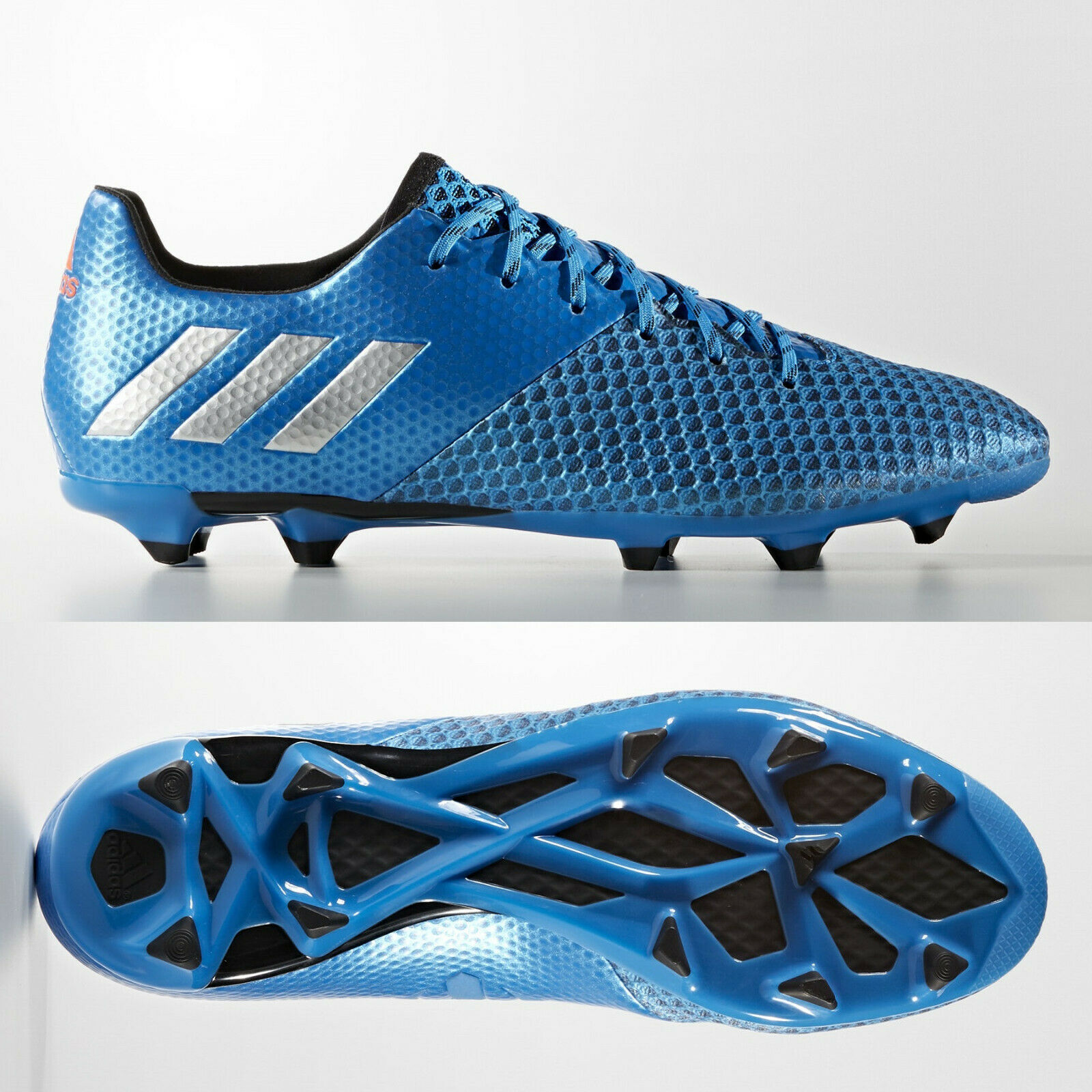 Adidas Messi 16.2 FG Mens Football Stiefel Firm Ground Blau Größe 7.5 8 9.5 10.5 11