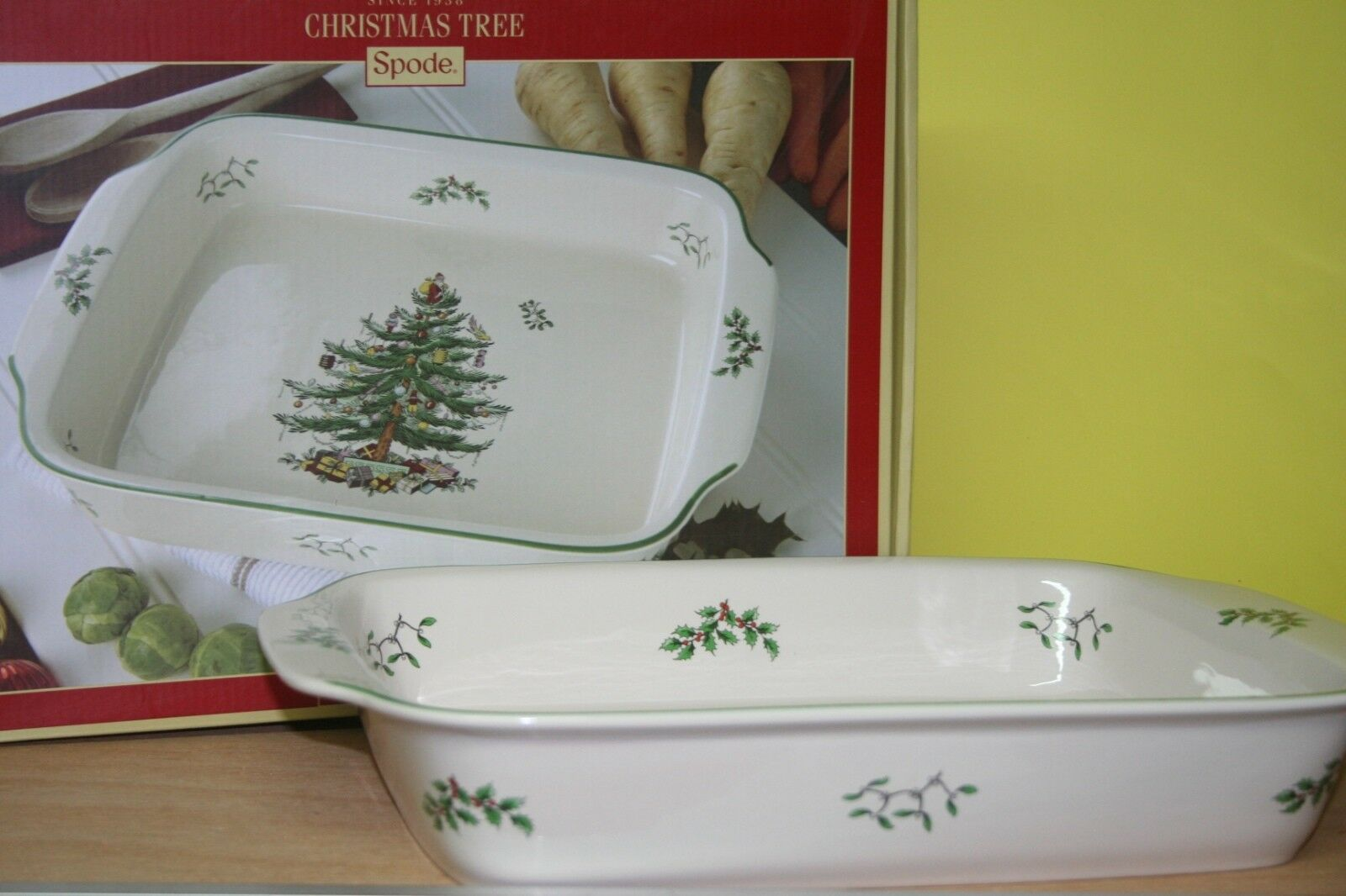 Lasagneform grand 38 x 28 cm Spode Christmas Tree