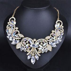 Fashion-Rhinestone-Crystal-Chunky-Statement-Bib-Pendant-Choker-Necklace-BH