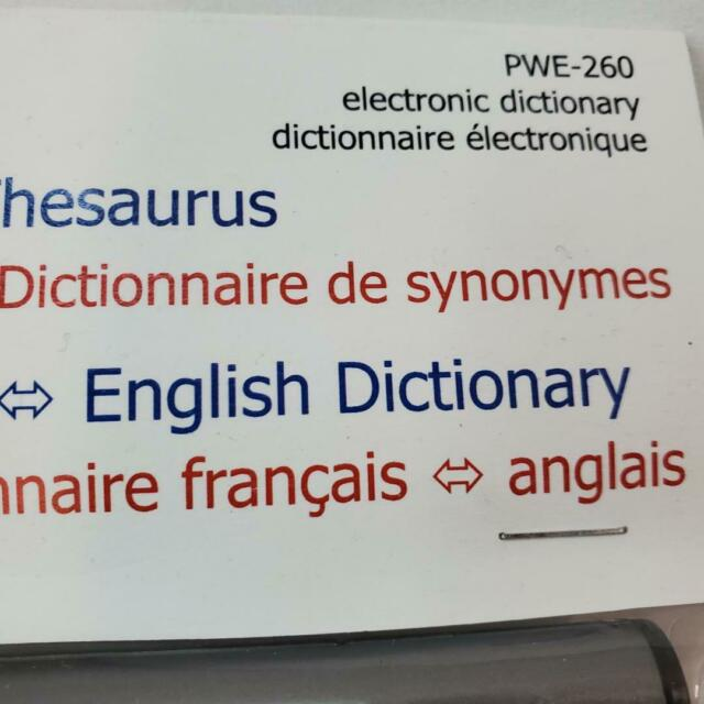 Office Equipment Sharp Electronic Dictionary & Thesaurus French ...