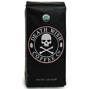 1-16oz-Death-Wish-Whole-Bean-Coffee-The-World-039-s-Strongest-Coffee-New