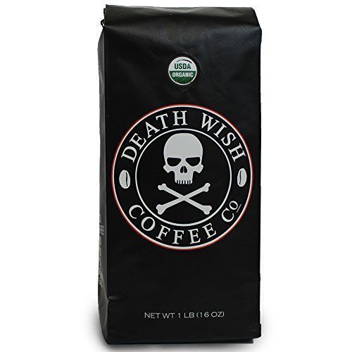 1 16oz Death Wish Whole Bean Coffee The World's Strongest Coffee New