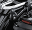 Detachable Backrest Sissy Bar w// Stealth Luggage Rack For Harley FLHR FLTR 09-18