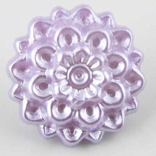 8 Botones de flor de color 16 mm Perla chrysanthem Abrigo Jumper Camisa Craft comprar 2 4 8