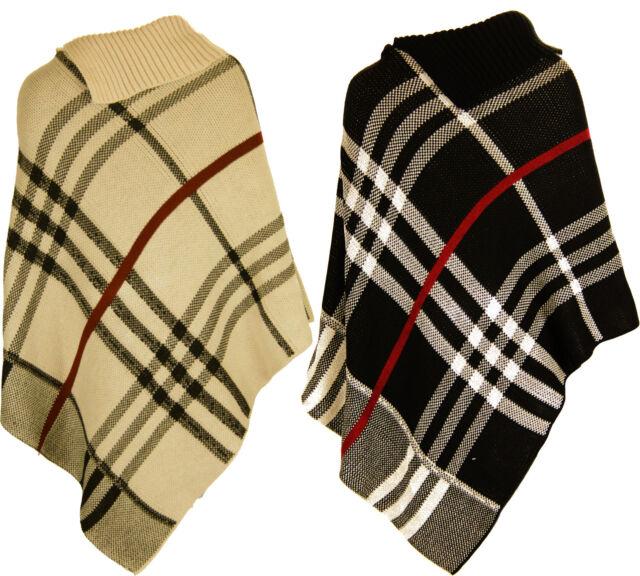 L80 femmes neuf tricot hiver Cape poncho en plus taille 08-28