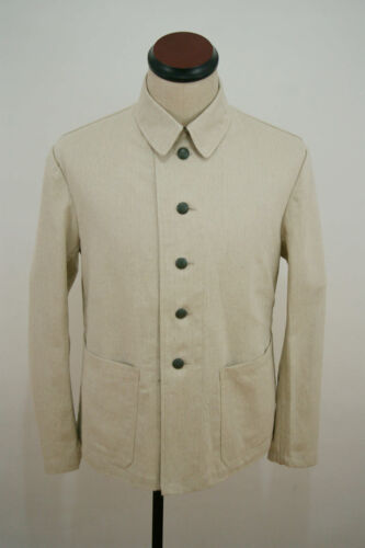 WWII German Summer HBT off-white Drill service tunic XL