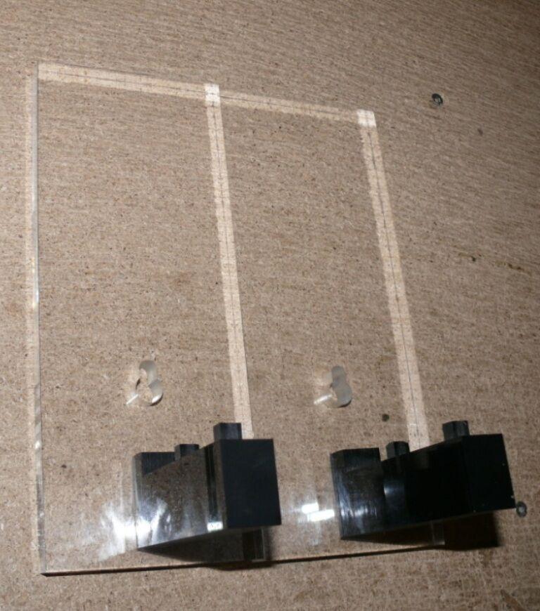 K23 Train safe Acryl  Wandhalterung für1 Röhre Spur 1
