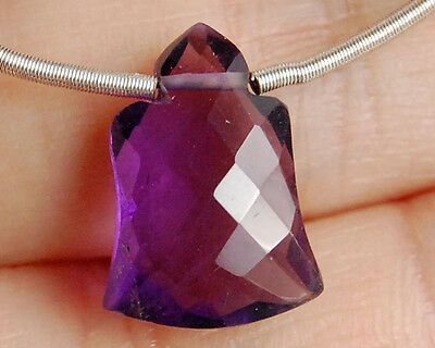 Natural African Amethyst Faceted Bell Briolette Semi Precious Gemstone Bead