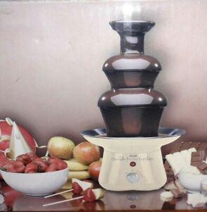 Scatola GRANDE Hinari Cioccolato Fonduta Set per 1kg di cioccolato lavabile in lavastoviglie VERSI
