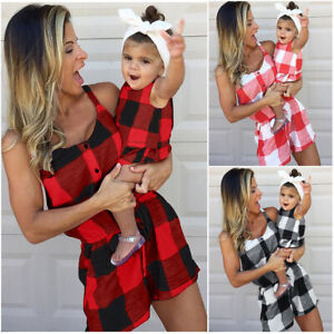 Mother-and-Daughter-Clothes-Parent-child-dress-Family-Matching-Outfits-Baby-Girl