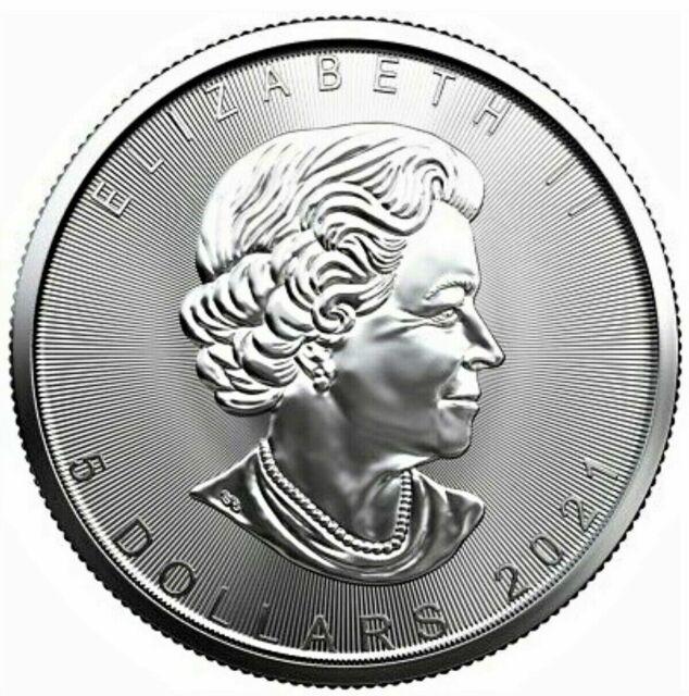 Canada Silver Maple Leaf 2021 $5 Pure Silver 1oz .9999 Coin
