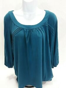 Women-039-s-Large-Blue-Investments-Knit-Top