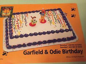 Excellent New Decopac Garfield Odie Birthday Cake Kit Ebay Personalised Birthday Cards Veneteletsinfo