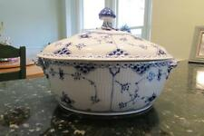Exquisite Royal Copenhagen Blue Fluted Half Lace Soup Tureen Dinnerware