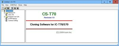 IC-S70 American and Europe ICOM CS-T70 v1.0 Program Software for IC-T70
