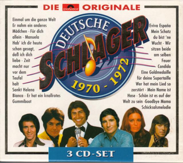 Deutsche Schlager 1970 - 1972 (3 CD s) 1998