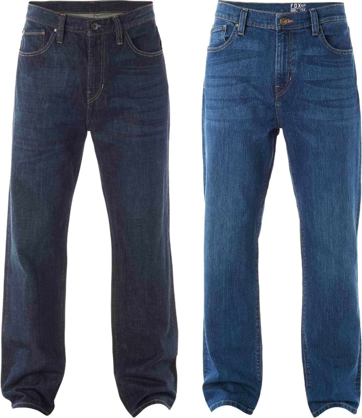 Fox Racing Garage Jeans - Mens Relaxed Fit Rinsed Stonewashed Mid-Rise